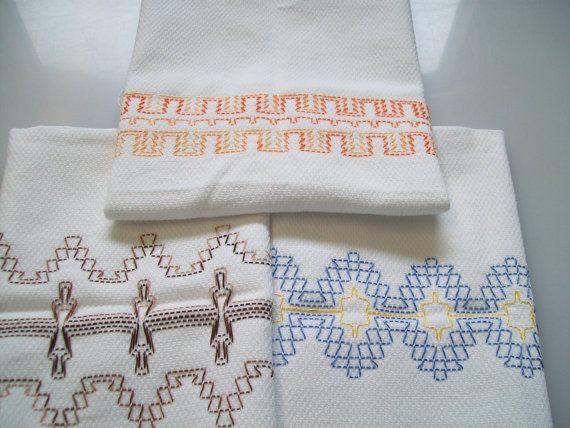 Swedish Weaving, Huck Embroidery Pattern Border Set E