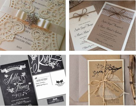 Custom Wedding Invitations on Etsy