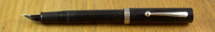 Sheaffer NoNonsense, c. 1968 - c. 2003.  The pointed rubber feed on this one indicates earlier production.