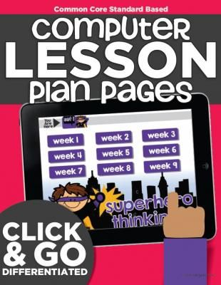 Computer Lab Lesson Plans | Math and Reading | Kindergarten from KindergartenWorks on TeachersNotebook.com -  (100 pages)  - An entire year's worth of kindergarten computer lessons ready to go. It hits common core standards in reading and math. Perfect for using in the computer lab or at stations.