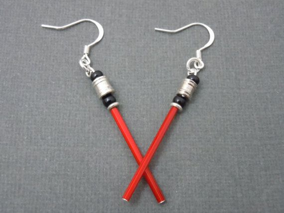 Hey, I found this really awesome Etsy listing at https://www.etsy.com/listing/205873841/glowy-red-lightsaber-earrings-star-wars