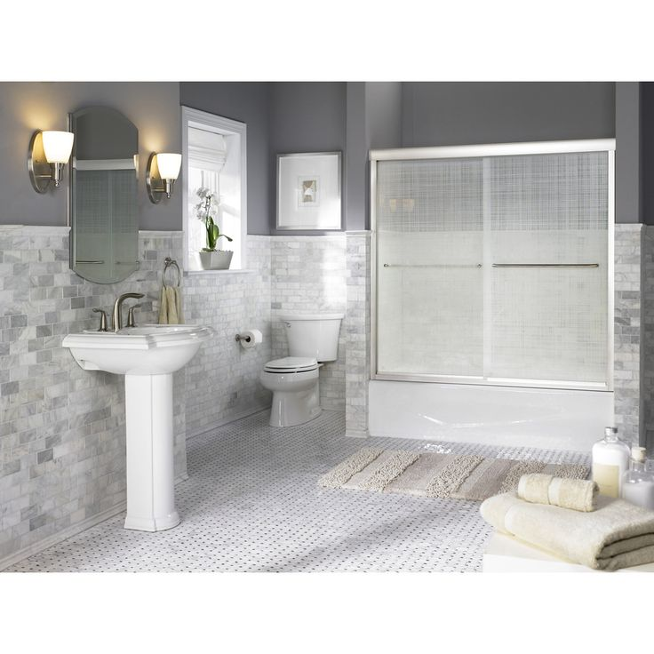 Shop KOHLER Villager White Cast Iron Rectangular Skirted Bathtub with Right-Hand Drain (Common: 31-in x 60-in; Actual: 14-in x 30.25-in x 60-in) at Lowes.com