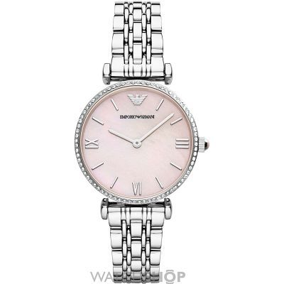 Ladies Emporio Armani Gianni T-Bar Watch AR1779