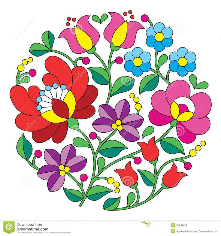 Kalocsai Embroidery - Hungarian Round Floral Folk Pattern - Download From Over 46 Million High Quality Stock Photos, Images, Vectors. Sign up for FREE today. Image: 50647809