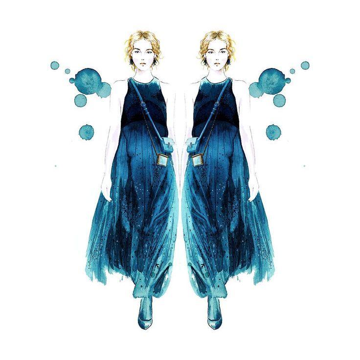 Zobacz na Instagramie zdjęcie użytkownika @sylwiadbck.illustration   #fashionillustration #illustration #artist #art #contemporaryart #hautecouture #vogue #minimalism #valentino