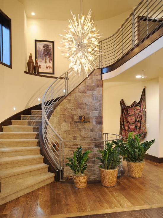 Lighting Basement Washroom Stairs: 36 Best Foyers And Entryways Images On Pinterest