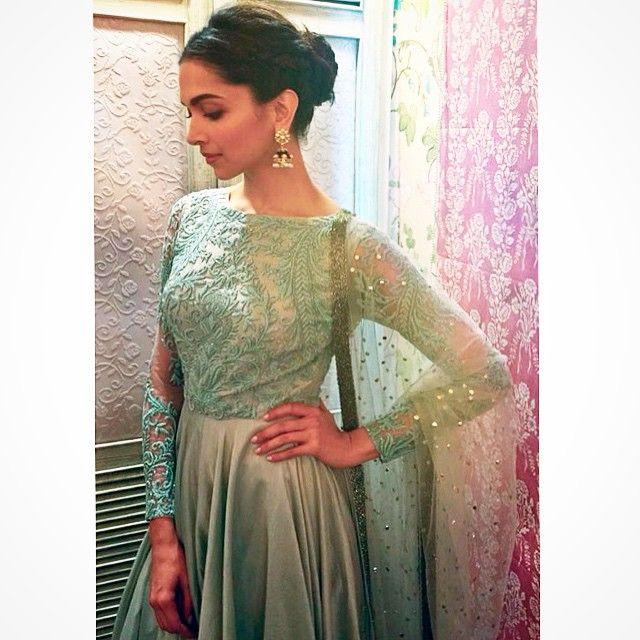 Deepika Padukone in Varun Bahl couture.