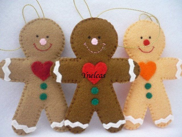 Felt Christmas Ornament - Don't buy the pattern off Etsy just trace out your cookie cutters.