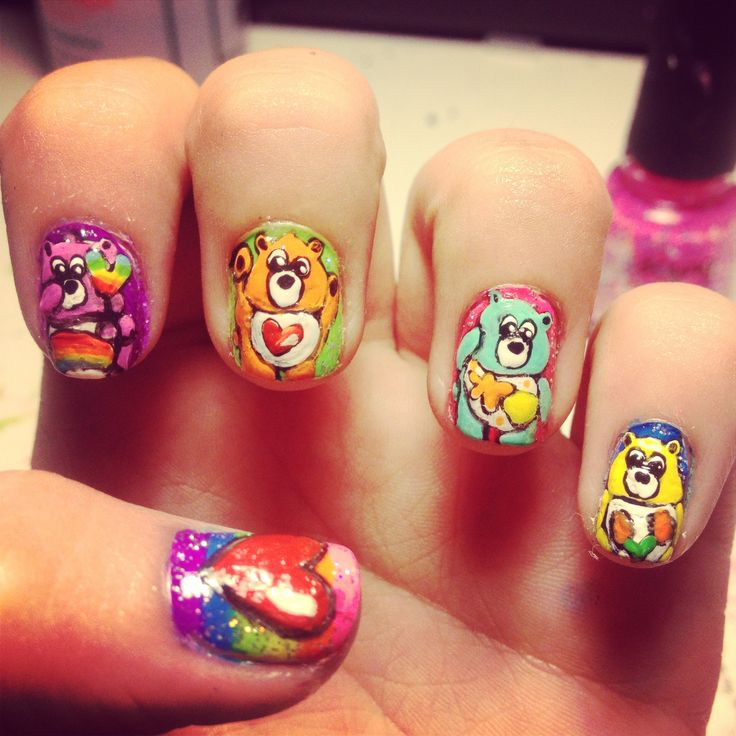 Bear Nail Art: 17 Best Images About Care Bear Nail Art Designs & Tutorial