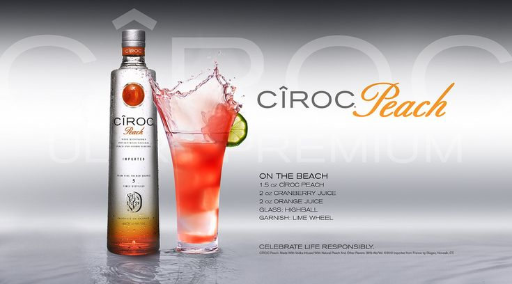 EthnoNightlife.com | OPEN BAR | CIROC MIXED DRINK RECIPES PEACH ON THE BEACH