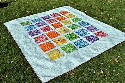 Postage stamp quilt1 2 Inch, Stamps Squares, Squares Block, Rainbows Postage, Audreypawdrey, Stamps Quilt, Rainbows Quilt, Block Quilt, Postage Stamps