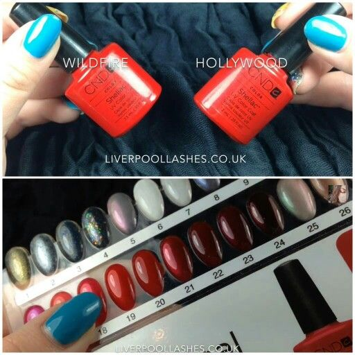 CND Shellac 18) Hot Chilis 19) Hollywood 20) Wildfire 21 ...