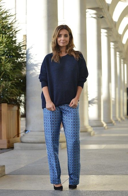 Team a relaxed trouser with a knit
