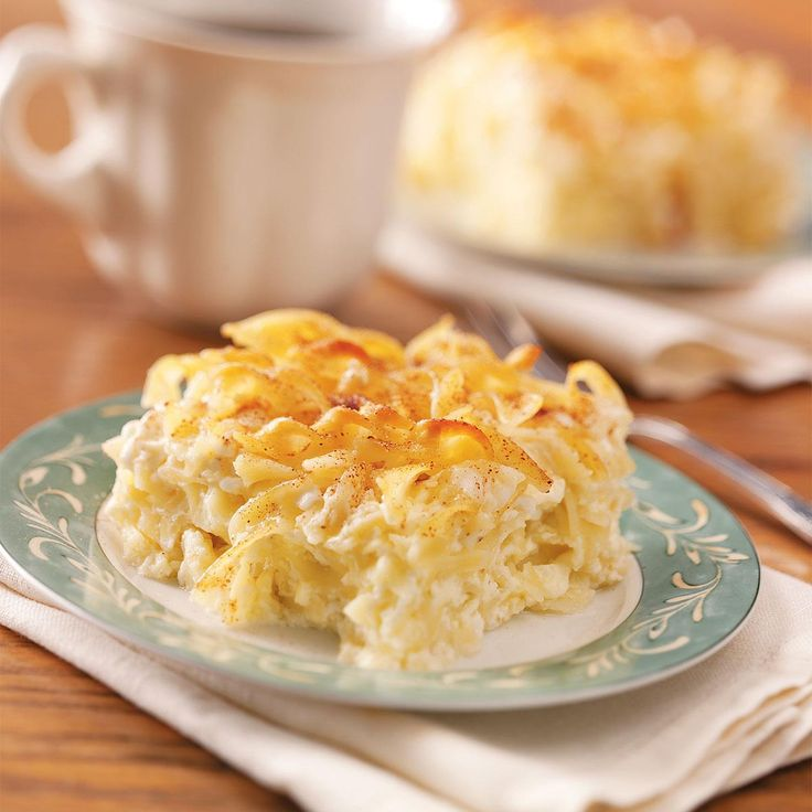 Lemon Noodle Kugel Recipe -Comforting kugel is a traditional dessert at our family's Polish Christmas Eve supper. Rich with butter, sugar, sour cream and cinnamon, it suits any special-occasion meal. —Romaine Smith, Garden Grove, Iowa