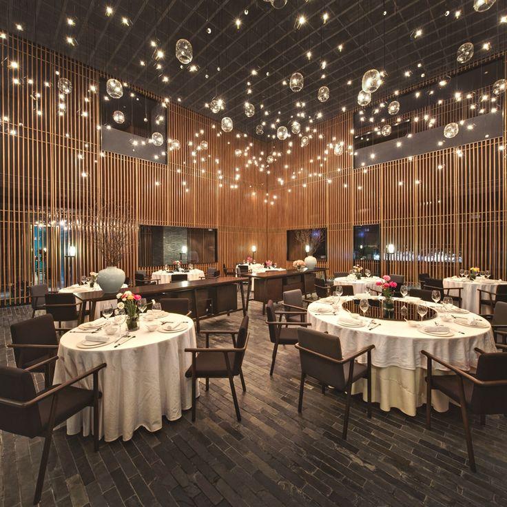 2013 restaurant bar design award winners lighting the feast china nerihu design research - Beaded Inset Restaurant Interior