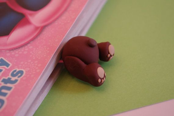 Adorable Polymer Clay Bookmark Puppy Butt by DearlyDarling88