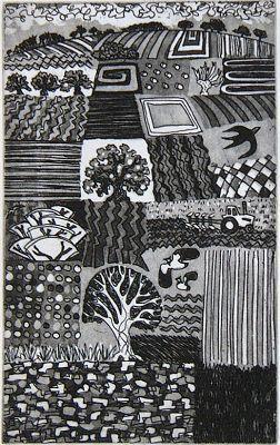 Harlequin Carry Akroyd - Painter & Printmaker - Postcards