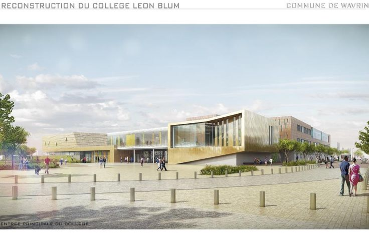 CONSTRUCTION DU COLLEGE LEON BLUM - Wavrin - MO: Conseil Général du Nord - Architectes et Photographe: PARALLELE - NF HQE Bâtiments Tertiaires - Niveau HQE Très Bon