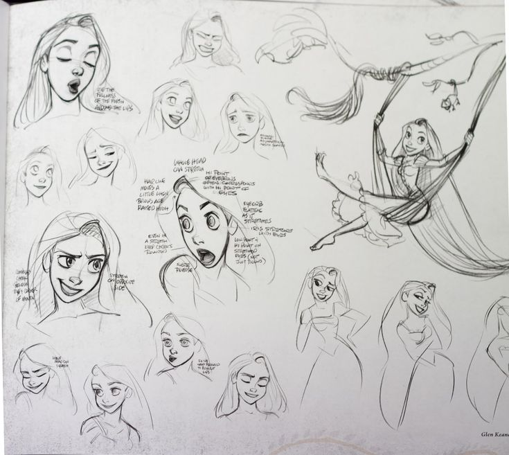 Glen Keane. Castles in the Air: Getting Tangled: Rapunzel's Character Design