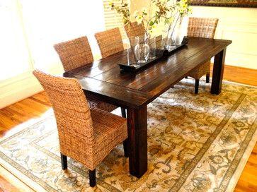 Traditional Farmhouse Table - Farmhouse - Dining Room - Raleigh - Under The Table Company