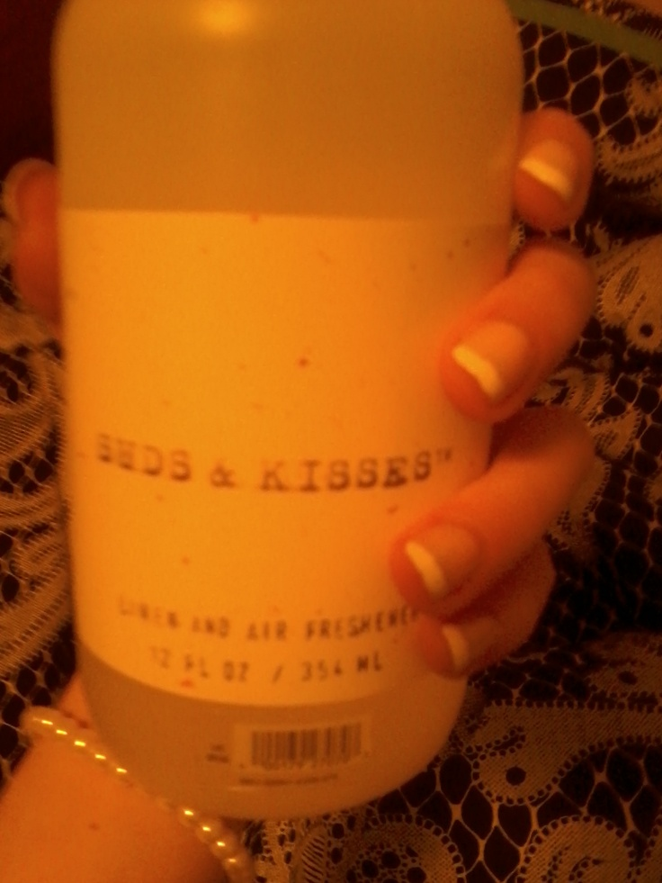 The only thing I spray on my sheets Buds&Kisses from Aerie <3Sheet Buds Kisses, Sheet Bud Kisses