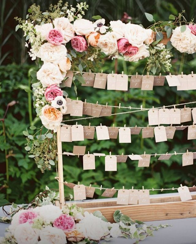 Twine, small clothes pins, and cute tags