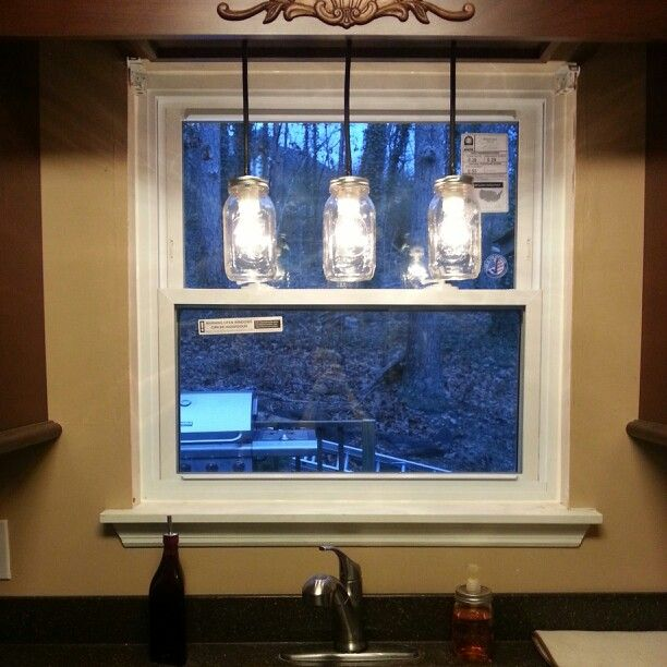 Kitchen Pendant Lighting Over Sink: Mason Jar Light Above Sink