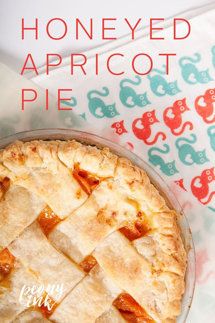 Overestimating the number of apricots two people can eat in a week sometimes turns out to be a good thing. Like Honeyed Apricot Pie level good. via /peonyink/