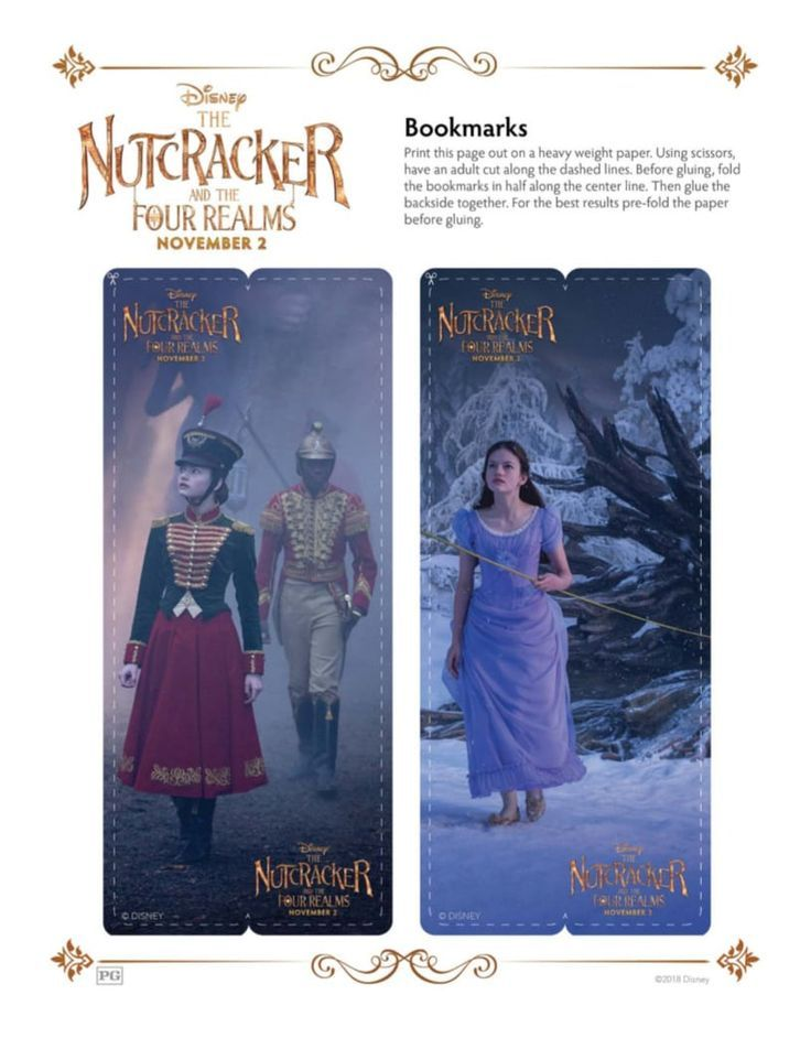DIY Disney Nutcracker and The Four Realms Free Printable Bookmarks