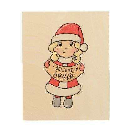 I Believe In Santa Wood Wall Decor - New Year's Eve happy ...