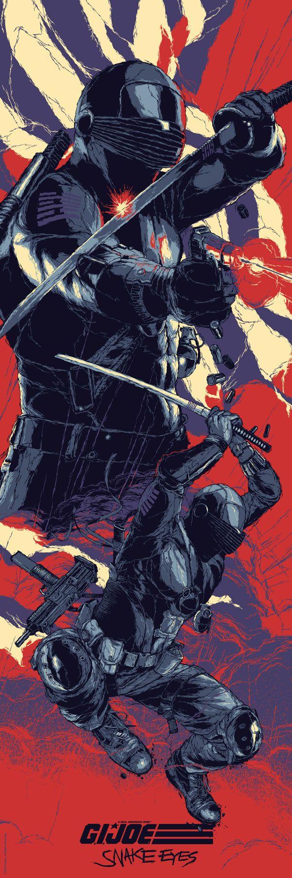 Cool G.I. JOE Art Featuring Snake Eyes, Cobra Commander, Storm Shadow, andDuke - News - GeekTyrant