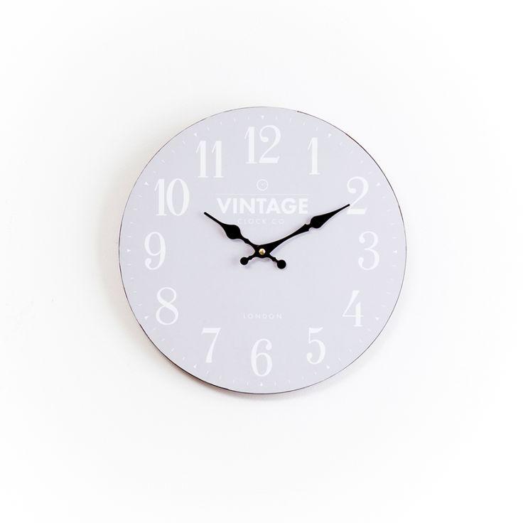 Flat-Grey-Wall-Clock-34cm