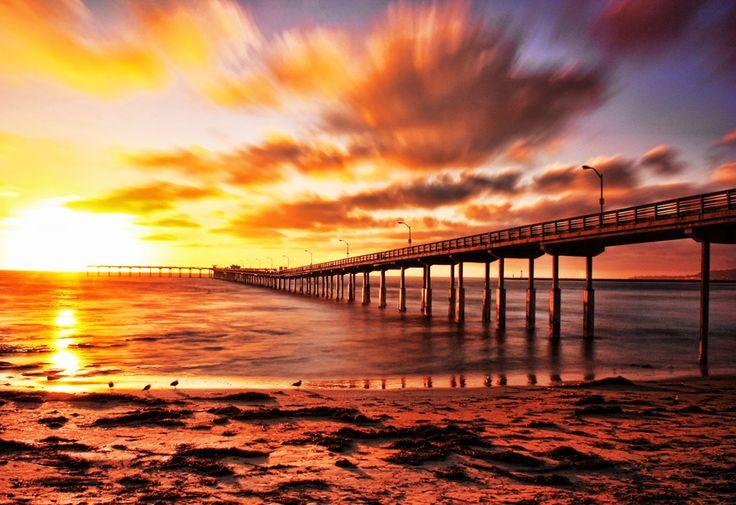 Ocean beach pier in San Diego, CA.