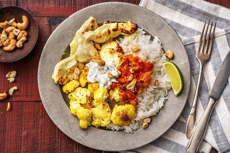 Tandoori Chicken with Cauliflower, DIY Tomato Chutney and Fragrant Rice