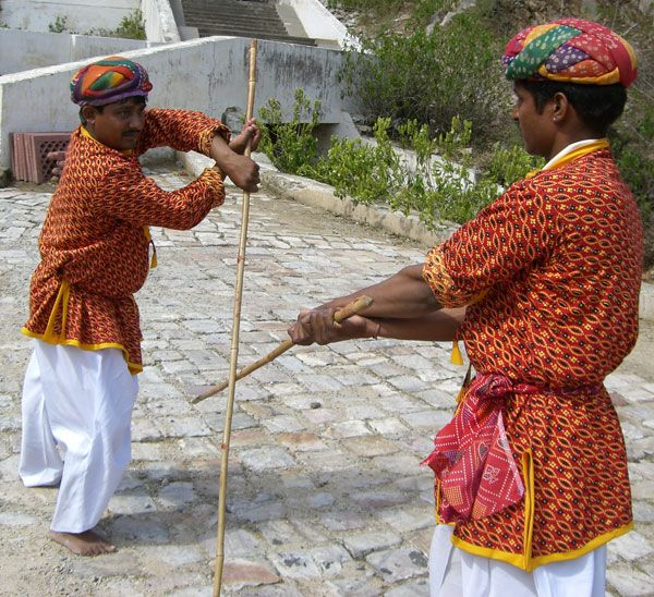 Lathi: Lathi is an ancient armed martial art of India. It also refers one of the world's oldest weapons used in martial arts. Lathi or stick martial arts practiced in Punjab and Bengal region of India. Lathi still remains a popular sport in Indian villages.