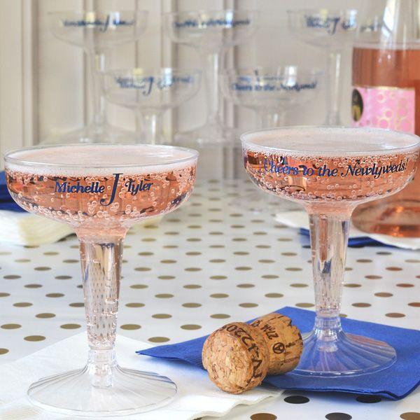 4 Oz Custom Printed Disposable Plastic Champagne Gles Gleschampagne Barwedding