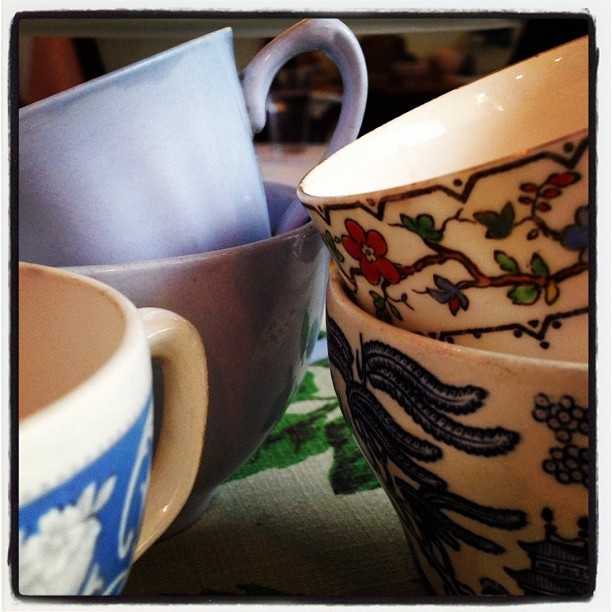 Second-hand shop spoils for our teacup installation