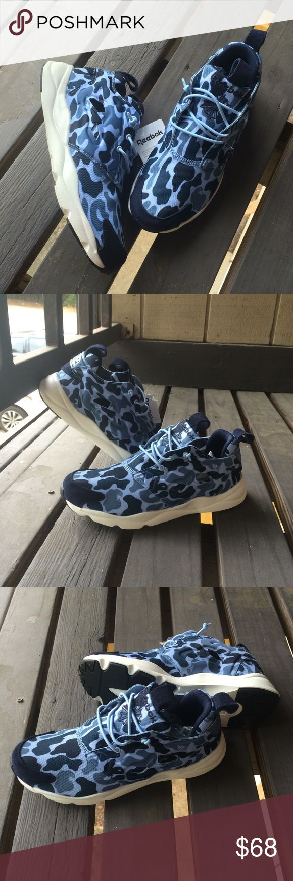 Reebok Furylite CAMO Print Shoes Brand New! Special Camo Patterns and lightweight shoes Men's size 6.5 fits Women's 8 Reebok Shoes Sneakers