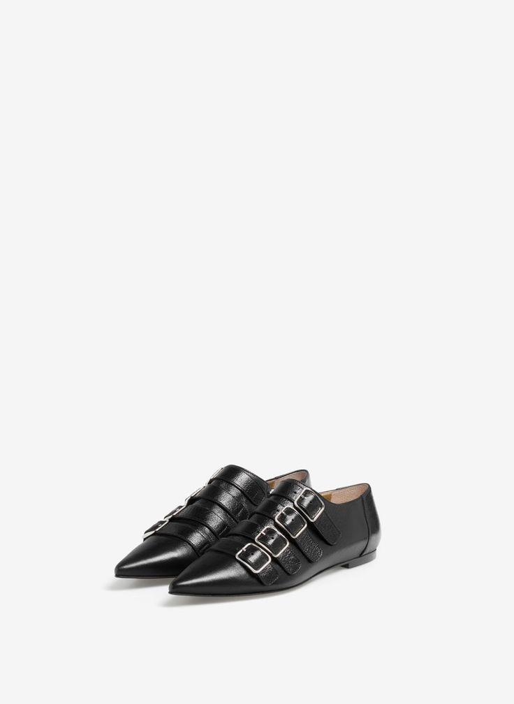 Uterqüe Portugal Product Page - Calçado - Sapatos rasos - Monk fivelas - 89