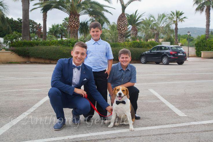 All Dressed Up #dog #bugs #Antonio #Matteo #Christiano #outside #Italy #Italia #sannicandrogarganico #VillaFlorio #Wedding #50thanniversary #50 #anthonygentilephotography