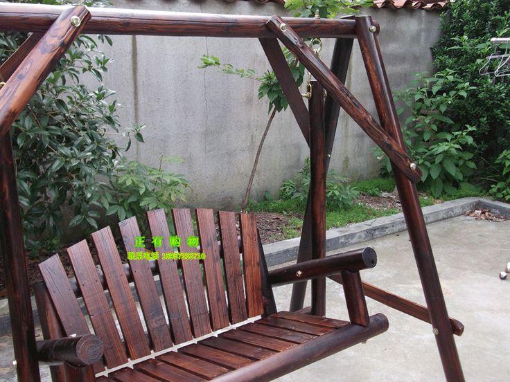 Columpios de madera para jardin asiento columpio doble - Columpios de terraza ...