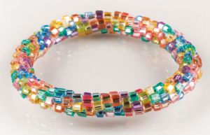 bracelet from cube seed beads