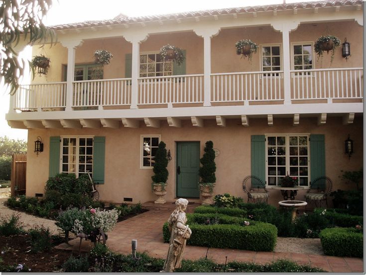 California Spanish Colonial With Peachy Pink Stucco And