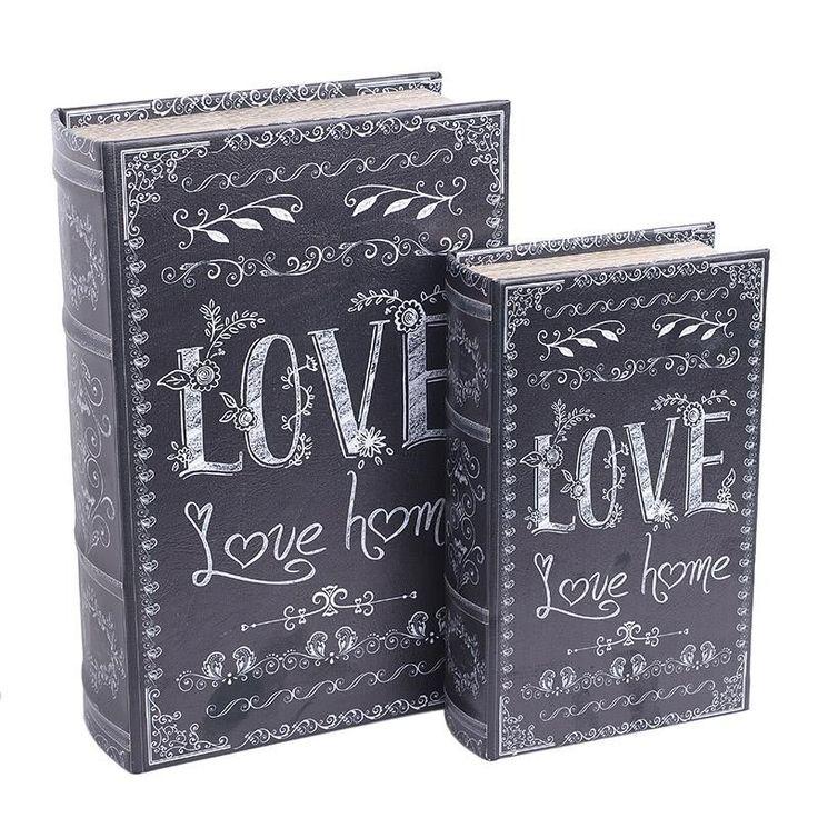 Decorative Book Box Set Of 2 Pieces - inart