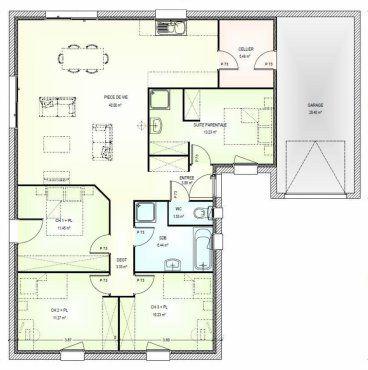 plan maison neuve construire marc junior open plain pied l 106 - Plan Maison Ideale Feng Shui