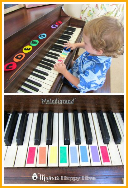 Montessori inspired music activities for young kids. I have a piano, might as well use it for good...