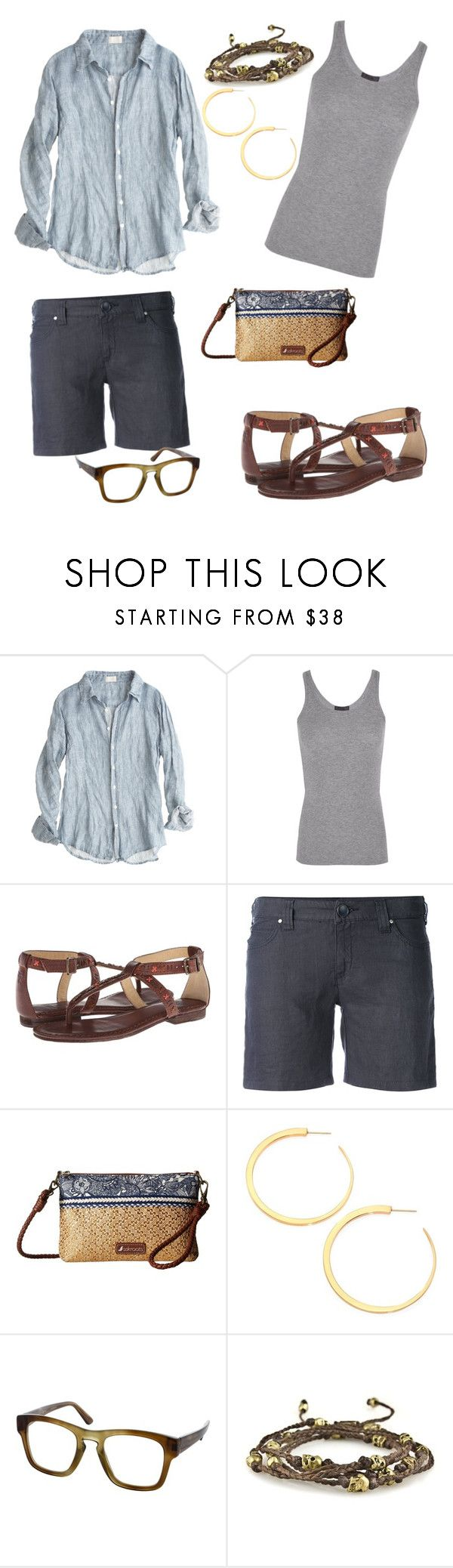 """this is me"" by wallaceschade ❤ liked on Polyvore featuring CP Shades, ATM by Anthony Thomas Melillo, Frye, Armani Jeans, Sakroots, Vita Fede and Gucci"