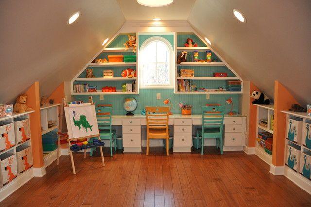 Attic play room design