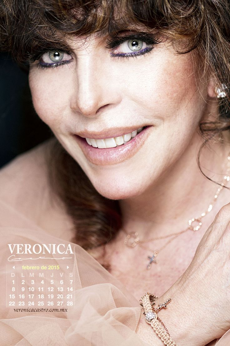 Verónica Castro | Calendario mes de febrero 2015