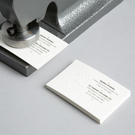 107 best business card images on pinterest business card design a brand identity around an embossing stamp by tsto for el camino of reheart Image collections
